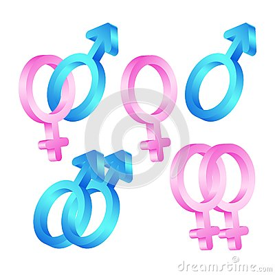Male And  Female Symbols. Royalty Free Stock Image - Image: 25521086