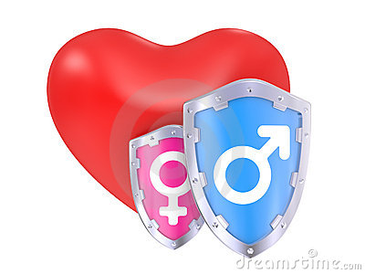 Male And Female Symbols on a shield