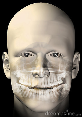 Male figure dental scan