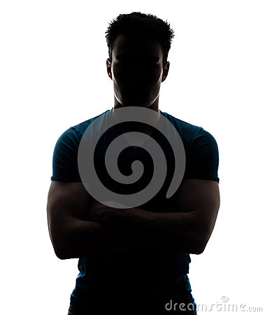 Free Male Figure In Silhouette Looking At The Camera Stock Photo - 30260130