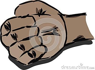 Male fist.