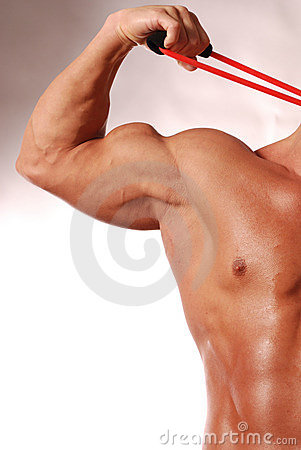 Male fitness with copyspace