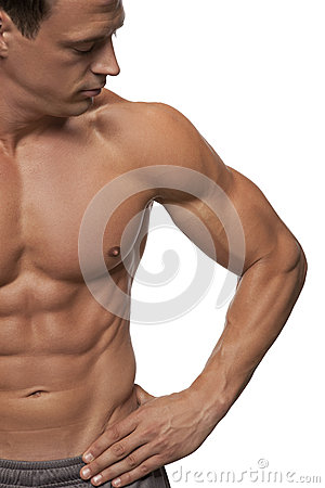 Free Male Fitness Model Royalty Free Stock Photos - 25906078
