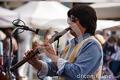 Male Flutist Johnsy G - The Whisper Editorial Photo
