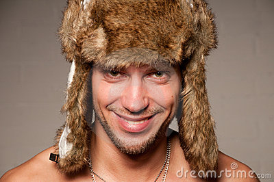 Male in fur hat