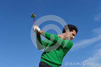 Male Golf Swing