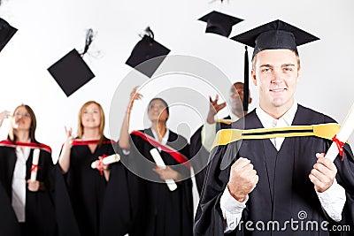 Male graduate at graduation