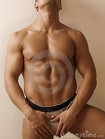 Male in grey underwear