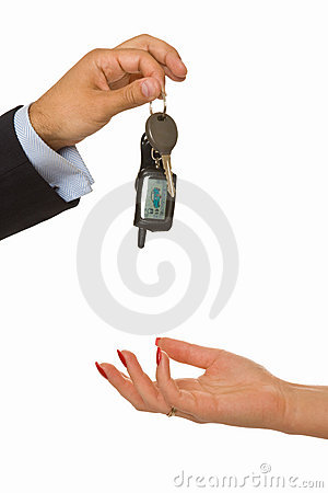 Free Male Hand Drops A Bunch Of Car Keys Stock Photos - 5605513