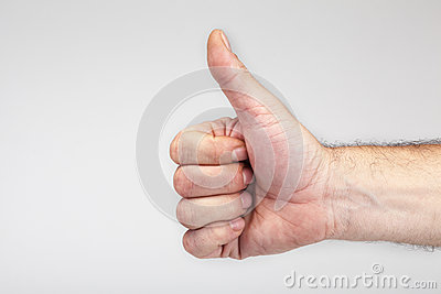 Male hand gesturing the ok sign