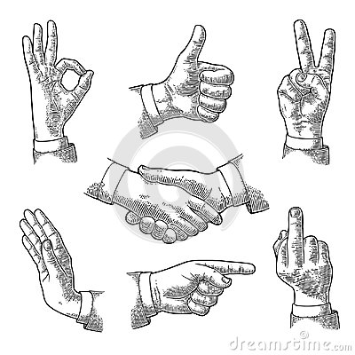Free Male Hand Sign. Like, Handshake, Ok, Stop, Middle Finger, Victory Royalty Free Stock Images - 102784869