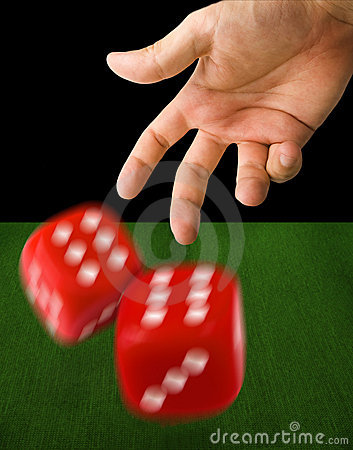 Free Male Hand Throwing Dice Royalty Free Stock Photo - 6252675