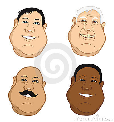 Male heads fat