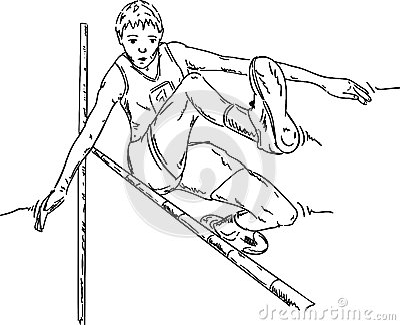 Male high jumper