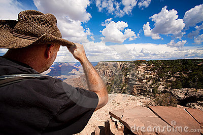 Male hiker at the Grand Canyon