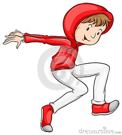 A male hiphop dancer Vector Illustration