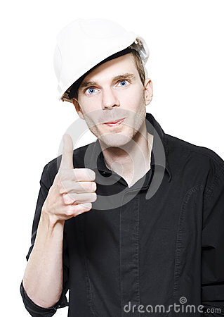 Male Maintenance Technician Wearing Hard Hat