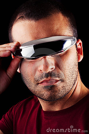 Free Male Man With Futurist Glasses Royalty Free Stock Photos - 20874258