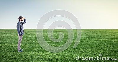 Male on meadow