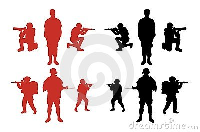 Male Military Silhouettes