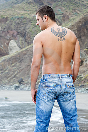 Free Male Model Back Stock Photos - 5440353