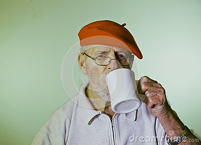 Male Model Drinking Coffee