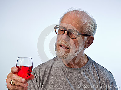 Male Model Holding A Glass Of Wine
