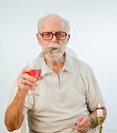 Male Model Making A Toast