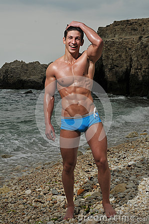 Free Male Model On The Beach Stock Image - 26163011