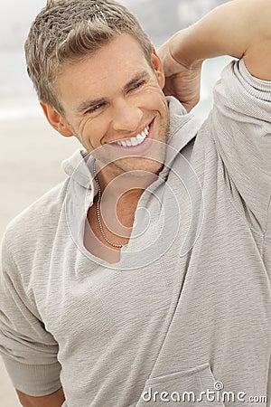 Male model smile