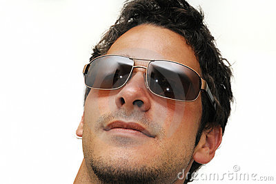 Male Model With Sunglasses Royalty Free Stock Photo - Image: 6418795