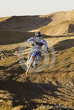 Male Motocross Racer Racing