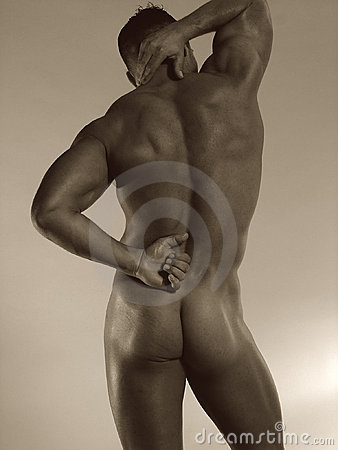 Male nude rear
