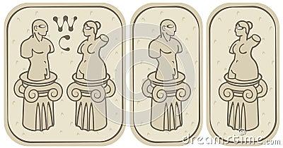 Male och kvinnliga toaletter