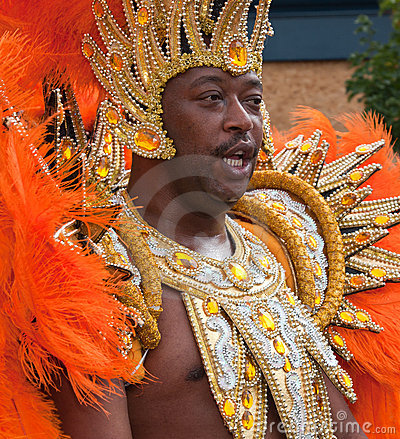 Male performer in the 2009 Notting Hill Carnival Editorial Image