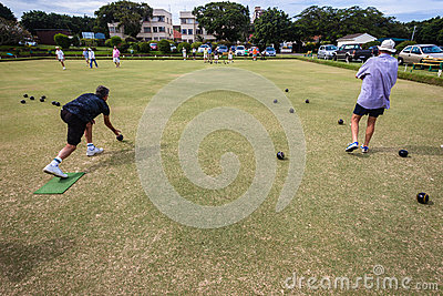 Bowls Players Competiton Editorial Stock Photo