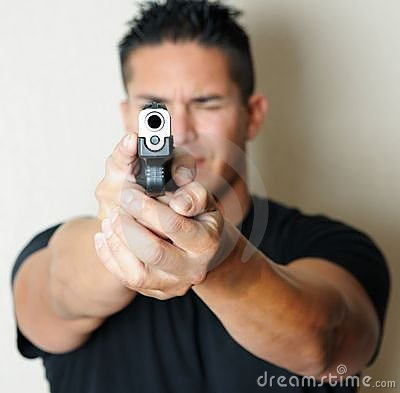 Free Male Pointing Gun Royalty Free Stock Photography - 17048237