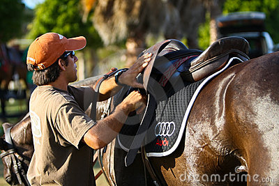 Male Polo Player Editorial Photography