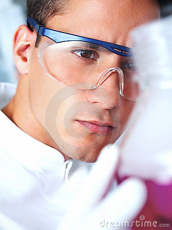 Male researcher in the laboratory