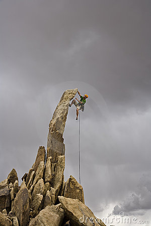 Free Male Rock Climber. Royalty Free Stock Image - 6204946