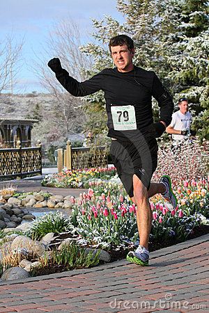 Male runner in race Editorial Stock Image