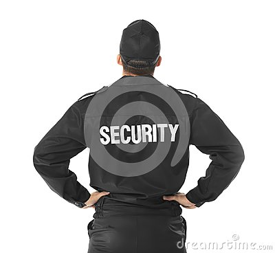 Male security guard Stock Photo