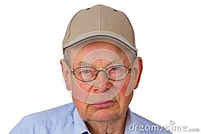 Male senior with cap