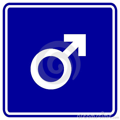 male sex gender symbol vector sign