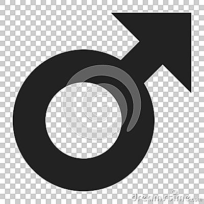 Free Male Sex Symbol Vector Icon In Flat Style. Men Gender Illustrati Royalty Free Stock Photos - 116560398