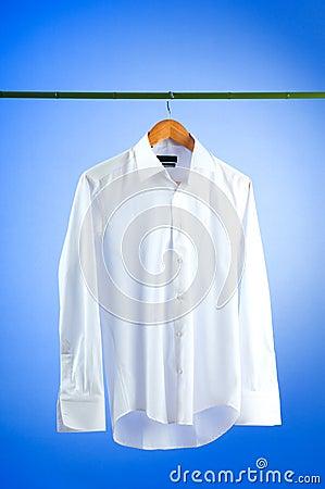 Male shirt against gradient