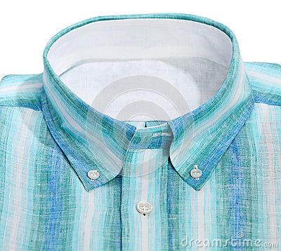 Male shirt isolated on the white