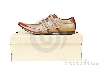 Male shoes in box