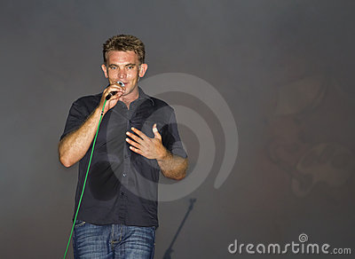 Male singer/musician on stage Theuns Jordaan Editorial Image