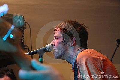 Male singer performing live Editorial Stock Image